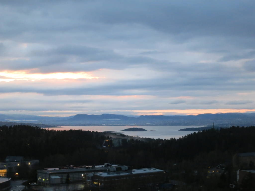 view of Oslo fjords